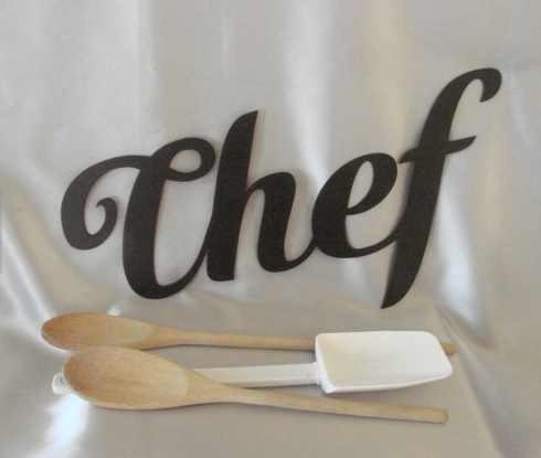 Figuras letras chef cocina decoracion metal en for Letras decoracion metal