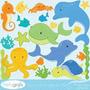 Kit Imprimible Animalitos Fondo Del Mar Imagenes Clipart
