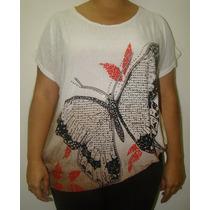 Blusa Legue Feminina Camisa Sobre Legging Borboleta +brinde