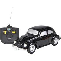 Carro De Controle Remoto Volkswagen Fusca Preto 1:24