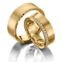Par De Alianças Casamento Ou Noivado Com Brilhante Oferta!