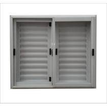 Ventana Aluminio-con Postigos-hoja Corrediza - 120x090 Cms