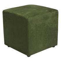 Puff Suede Verde, 45 Cm