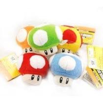 Super Mario Bros Mushroom 2.5 Muñeca De La Felpa Figura -5p