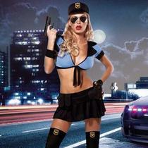 27- Disfraz Policia Con Medias Muy Sexy & Hot- 4bidden Herm