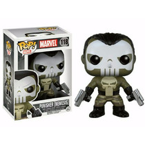 Boneco Punisher Nemesis Justiceiro Pop! Marvel 118 Funko