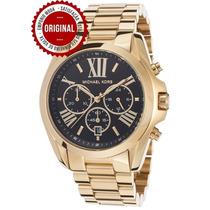 Relógio Michael Kors Mk5739 Original Dourado Preto Promoção