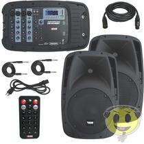 Caixa Mixer Ativa Novik Evo410 Handy Caixas + Mesa Kadu Som