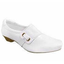 Sapato Branco Enfermagem Salto Baixo Hospital Nr 32