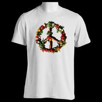 Camiseta Paz E Amor Simbolo Vegano Vegetarianismo J159