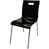 Cadeira Acrílico Design Ergonomico Pés Cromado Varias Cores