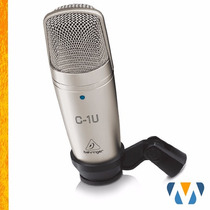 Microfone Condensador C1-u Behringer Usb C1u Youtuber