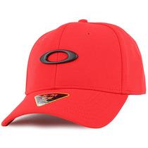 Boné Oakley Tincan Vermelho Simbolo Preto Sm Medio Original