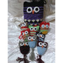 Lechuzas Buhos De La Suerte Souvenirs . Tejidos Crochet !!