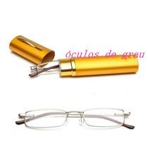 Óculos Para Leitura De Grau +2.5 De Caneta Com Estojo E Mola