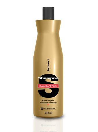 Cabello tenido shampoo