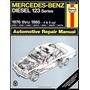 Mercedes Benz Diesel Auto Repair Manual 123 Series 1976-1985