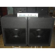 2bafles Sub 1810 600w Rms 2400w+potencia1600w Apx1200