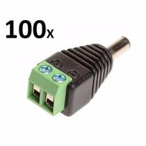 Kit 100 Plug Conector P4 Macho P/ Cftv Camera Borne Kre Novo