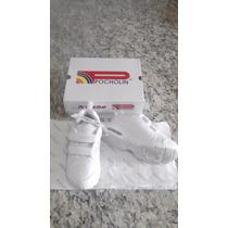 Zapatos Escolar Pocholin Talla 28 Color Blanco