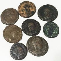 Lote De 8 Moedas Antigas Do Império Romano High Quality - 3