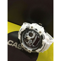 Kit 3 Relógios Masculino Led Shock Branco Resistente Água