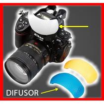 3 Difusores Para Flash Integrado Cámaras Canon Nikon Sony