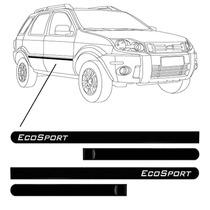 Kit Lateral Ford Ecosport Personalizado Preto 2005/09 - 4p