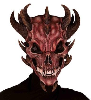 Mascara Halloween Terror Calavera De Diablo O Demonio Latex