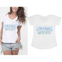 Camiseta Blusa Bata Gestantes Gravidas I Love My Baby