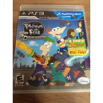 Jogo Infantil Para Ps3 Phineas And Ferb 2nd Dimension Disney
