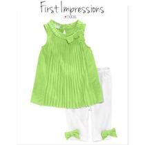 Envio Conjunto 0/3 Meses Macy Verde Nina Bebe Blusa Leggings