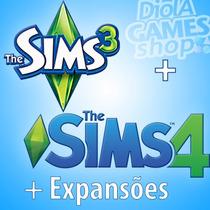 The Sims 3 + The Sims 4 + Todas As Expansões + Frete Grátis