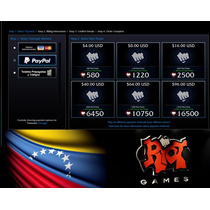 Riot Points Rp Lan League Of Legends 490 975 1350 1820 3250