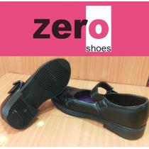 Zapatos Zero Originales Colegiales Niñas Escolar Negro