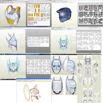 Papercraft Tutorial 3d Creación Cascos,armaduras,cosplay Y +