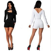 Palazzo Playsuit Jumpsuit Short Negro Talla Grande L 36 Sexy