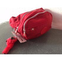 Cangurera Kipling Roja Para Niño/niña Modelo Escolar