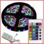 Tira Led Multicolor Rgb 5mts + Controlador + Fuente