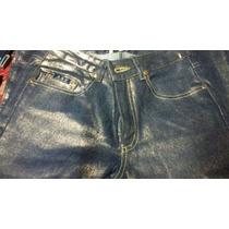 Pantalon De Jean Importado Elastizado Tela Metalizada