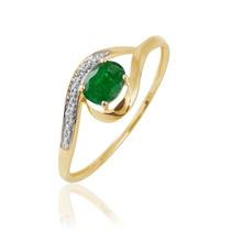 Extravasar Jóias Anel Ouro Amarelo18k Diamantes E Esmeralda!