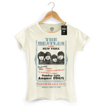 Camiseta Feminina Oficial The Beatles Tickets On Sale Now!