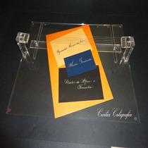 Mesa De Sombra Caligrafia Artística Transparente Base 6 Mm