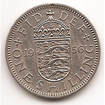 Moneda Gran Bretaña Inglaterra 1 Shilling Año 1956