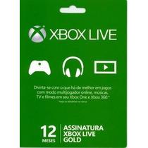 Xbox Live Gold Brasil - Cartão 12 Meses De Assinatura Gold