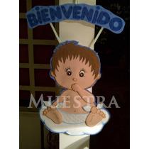Bebe Bienvenidos Baby Shower Nacimiento Cartel Foami