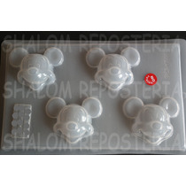 *molde Mediano Para Gelatinas Gomitas Caras Mickey Mouse*