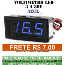 Voltímetro De Led Importado De 3 A 30v Display Azul