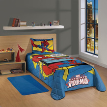 Colcha Matelasse Solteiro Spider-man Ultimate Lepper