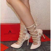 Zapatillas Fina Arthuro-azpeitia Tacon Moda Stileto Tiras
